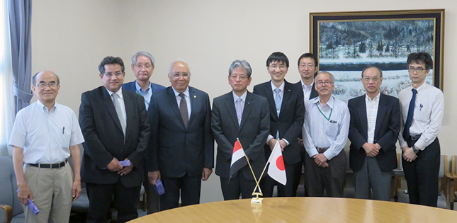 E-JUST President Visits Tohoku University
