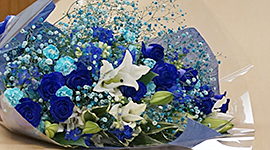 The Blue LED inspired bouquet