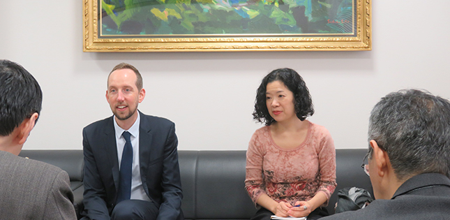 Visit from the Australian Embassy's Counsellor for Education and Science