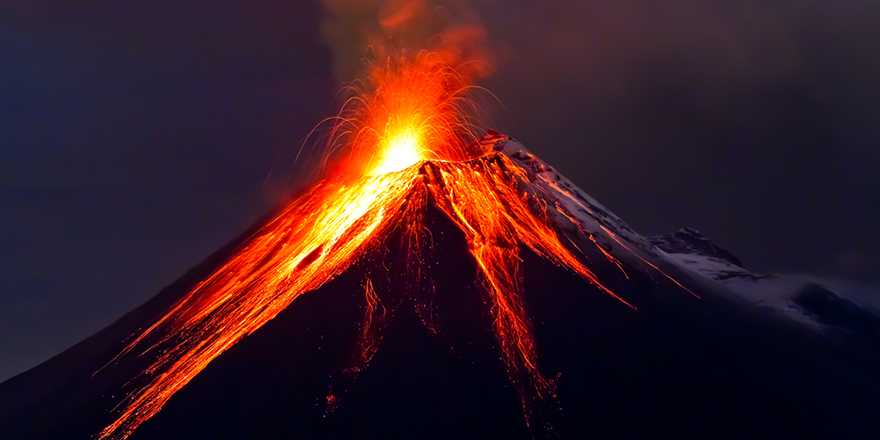 Large volcanic eruption may have caused the first mass extinction
